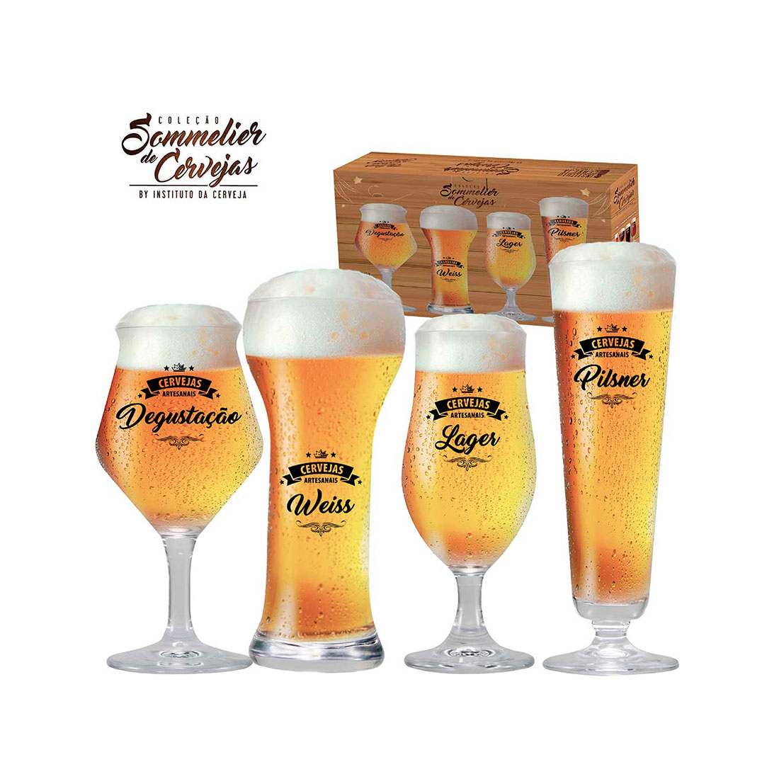 taças de cerveja de cristal